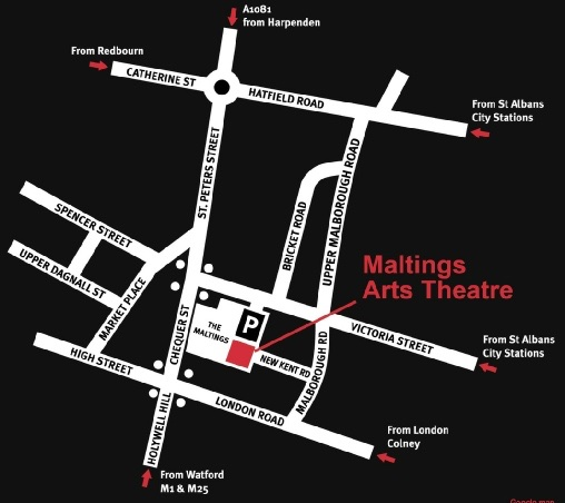 The Maltings map